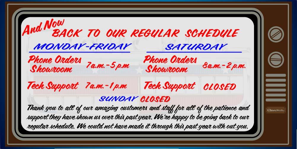Back to regular schedule