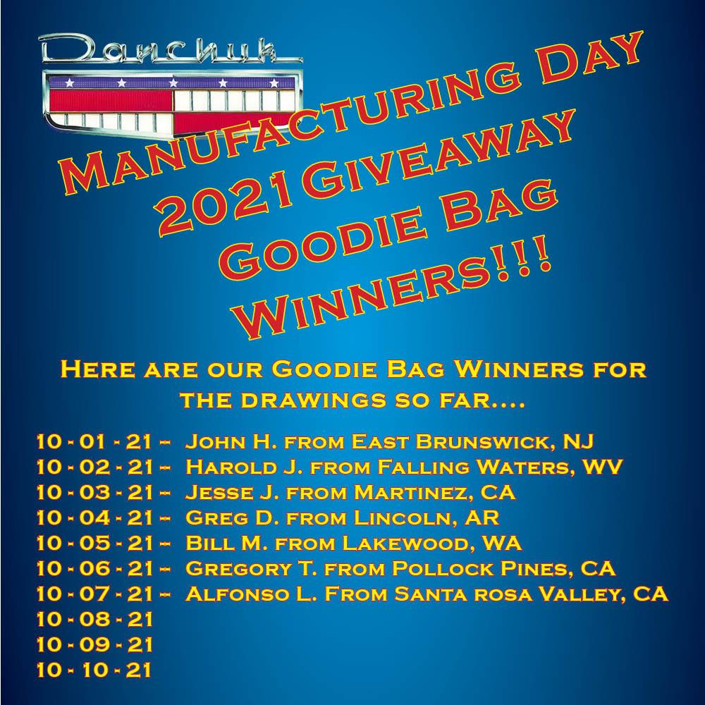 MFG Day Goodie Bag Winners