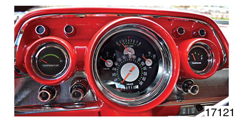 17121_l classic instruments 1957 chevy authentic series gauge set, black,1957 Chevy Gauge Wiring