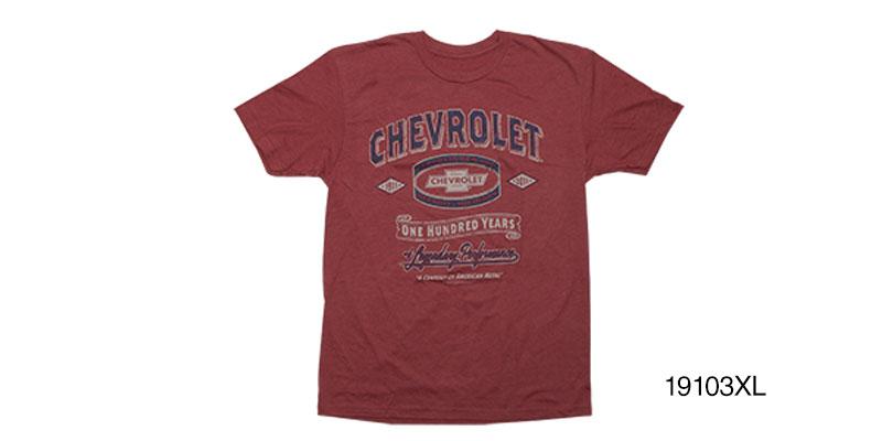 Chevy T Shirts >> Chevy Chevrolet Century Tee Shirt Red Xl