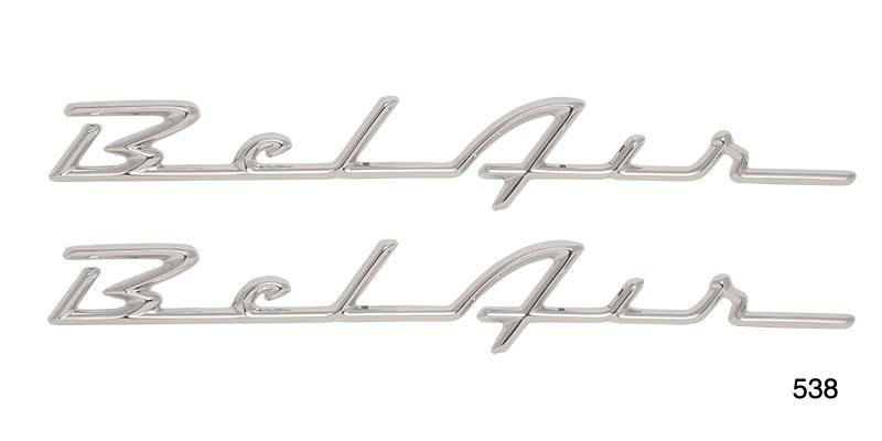 Danchuk 1955 1956 Chevy Bel Air Chrome Script Pair Best