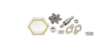 Replacement Kit Includes Impeller, Bearing & Shaft, Flange, Seals, Backing Plate & Hardware This Chevrolet replacement water pump rebuild kit ha