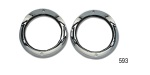 Danchuk 1955 Chevy Headlight Bezels w/ Gaskets and Hardware (Best)