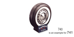 1957 Chevy B.F. Goodrich Tire, 7:50 x 14, 2-1/4'' White Wall (OS)
