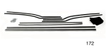 Danchuk 1955-1957 Chevy Window Fur Channel Weatherstrip Kit, 2-Door Hardtop (Best)