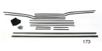 Danchuk 1956-1957 Chevy Window Fur Channel Weatherstrip Kit, 4-Door Hardtop (Best)