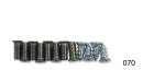 1955-1957 Chevy Plated Windshield Pillar Screw Set, exc. Convertible