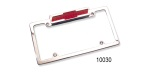 Chevy Bowtie License Plate Frames with 3rd Brake Light, Brushed Aluminum