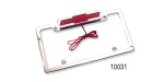 Chevy Bowtie License Plate Frames with 3rd Brake Light, Polished Aluminum
