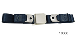 1955-1957 Chevy Driver Quality Front Seat Belt Set, Dark Blue
