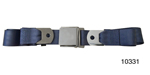 1955-1957 Chevy Driver Quality Front Seat Belt Set, Blue