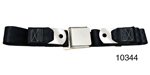 1955-1957 Chevy Driver Quality Rear Seat Belt Set, Black