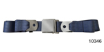 1955-1957 Chevy Driver Quality Rear Seat Belt Set, Blue