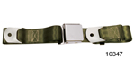 1955-1957 Chevy Driver Quality Rear Seat Belt Set, Green