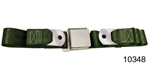 1955-1957 Chevy Driver Quality Rear Seat Belt Set, Dark Green