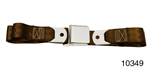 1955-1957 Chevy Driver Quality Rear Seat Belt Set, Dark Brown