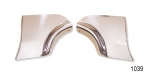 1956 Chevy Stainless Fender Skirt Scuff Pads, Pair