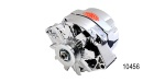Powermaster Chevy Alternator, 70 Amp, Chrome, 12-Volt