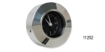 1955-1956 Chevy Clock with Polished Aluminum Adapter Bezel, Black
