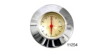 1955-1956 Chevy Clock with Polished Aluminum Adapter Bezel, Gold