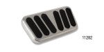 Lokar 1955-1957 Chevy Non-Power XL Series Billet Brake Pedal Pad, Brushed w/ Rubber Inserts