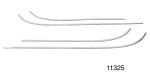 1957 Chevy Stainless Steel Interior Door Panel Trim Kit, 2-Door Del Ray