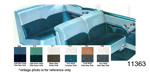 1955 Chevy Seat Cover Set, Bel Air 2-Door Sedan, Turquoise Cloth/Ivory Vinyl, Trim # 513