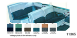 1955 Chevy Seat Cover Set, Bel Air 2-Door Sedan, Dark Green Cloth/Light Green Vinyl, Trim # 510