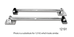 1955-1957 Chevy Single Adjustable Traction Bars, Weld-In Style, Spring Pocket Kit, Powder Coated