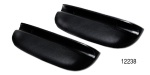 1957 Chevy Upholstered Armrests, Black, 150 & 210, Pair
