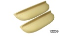 1957 Chevy Upholstered Armrests, Beige, 150 & 210, Pair