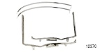 1955-1957 Chevy Chrome Quarter Window Frames, Hardtop, Upper & Lower (Good)