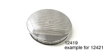 Chevy Billet Air Cleaner, Round, Polished, Ball-Milled, Flat Base