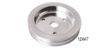 Chevy Polished Billet Aluminum Crankshaft Pulley, Double Groove, Small Block w/ Short Water Pump