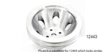 Chevy Polished Billet Aluminum Water Pump Pulley, Double Groove, Big Block w/ Short Water Pump