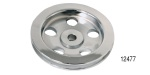 Chevy Polished Billet Aluminum Power Steering Pump Pulley, Single Groove