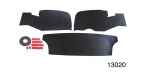 1955-1957 Chevy 3-Piece ABS Inner Trunk Liner Kit, Sedan
