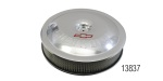 Pro Form Chevy Air Cleaner, 14'', Clear Anodized Aluminum, w/ Bowtie Logo