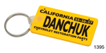 Danchuk Key Fob, California License Plate,  Yellow w/ Danchuk