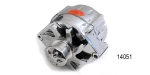 Powermaster Chevy Polished Bullet Alternator, 100 Amp, w/6-Groove Pulley
