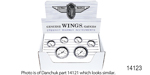 Stewart Warner Chevy Wings Series Gauge Set, Electric, White, 6-Piece