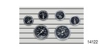 Stewart Warner Chevy Wings Series Gauge Set, Electric, Black, 6-Piece