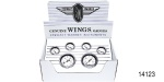 Stewart Warner Chevy Wings Series Gauge Set, Mechanical, White, 6-Piece