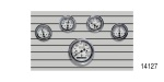 Stewart Warner Chevy Wings Series Gauge Set, Electric, White, 5-Piece