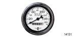 Stewart Warner Chevy Wings Series Mechanical Speedometer, White, 3-3/8''