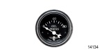 Stewart Warner Chevy Wings Series Electric Oil Pressure Gauge, Black, 2''
