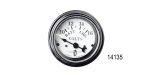 Stewart Warner Chevy Wings Series Voltmeter, White, 2''