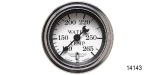 Stewart Warner Chevy Wings Series Electric Water Temperature Gauge, White, 2''