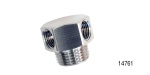 Performance Stainless Steel Chevy Stainless Vacuum Hose Fitting, 2-Port, 3/8'' NPT w/ 1/8'' NPT Ports