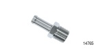 Performance Stainless Steel Chevy Stainless Vacuum/Fuel Hose Nipple, 3/8'' ID x 1-3/4'', 3/8'' NPT